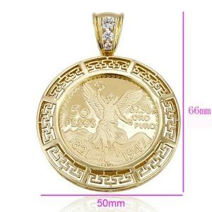 Centenario gold plated Brazilian 14k stamped chain